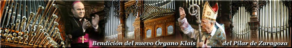 The magnificent new grand Organ, constructed by    Orgelbau Klais for Zaragoza's Cathedral in Spain.
